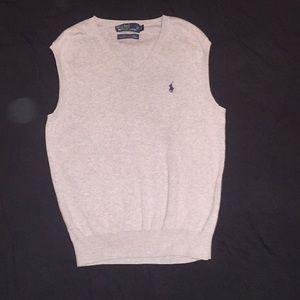 Grey men's size small polo sweater vest v neck